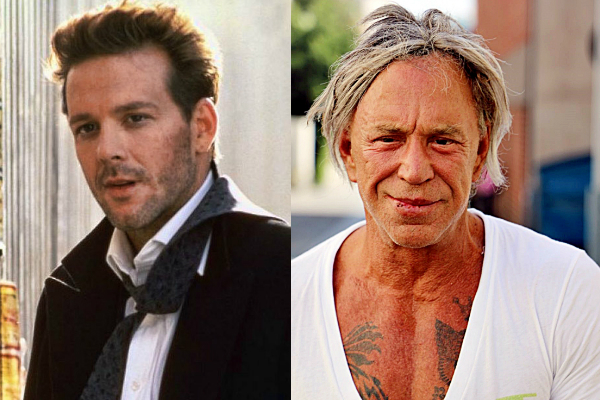 Mickey Rourke antes y despues