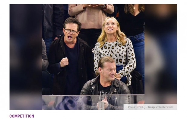 Michael J. Fox disfruta la victoria de New York Rangers ante Winnipeg Jets, por la NHL / Captura radaronline.com